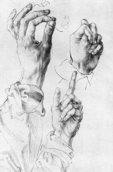 Альбрехт Дюрер и его работа связанная с руками (10 работ)