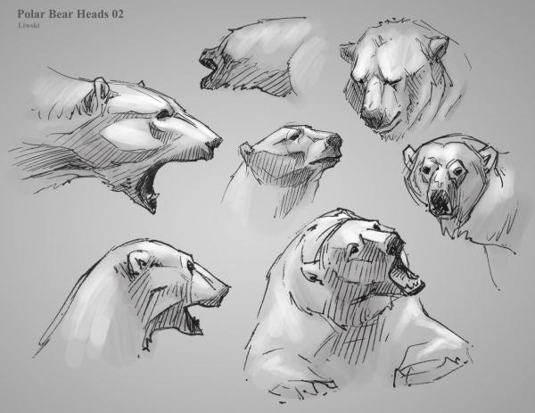 Учимся рисовать животных. Медведи (129 работ)
