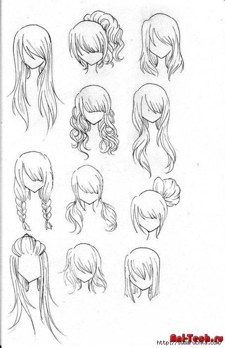 Учимся рисовать людей. Волосы (406 работ)