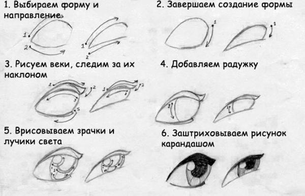 Учимся рисовать людей. Глаза (304 работ)