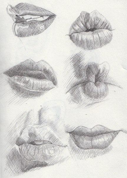 Учимся рисовать людей. Губы (351 работ)