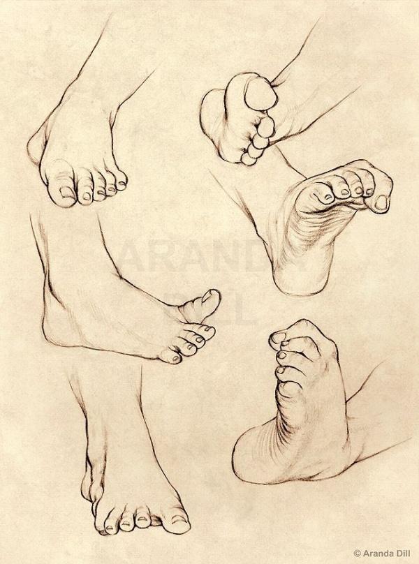 Учимся рисовать людей. Ноги (678 работ)