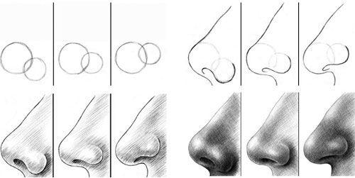 Учимся рисовать людей. Нос (209 работ)
