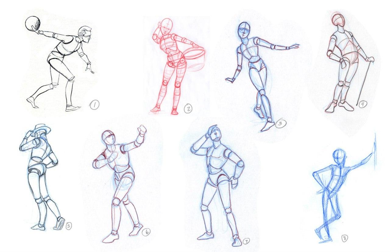 картинки нарисовать человека в движении занимает последнее