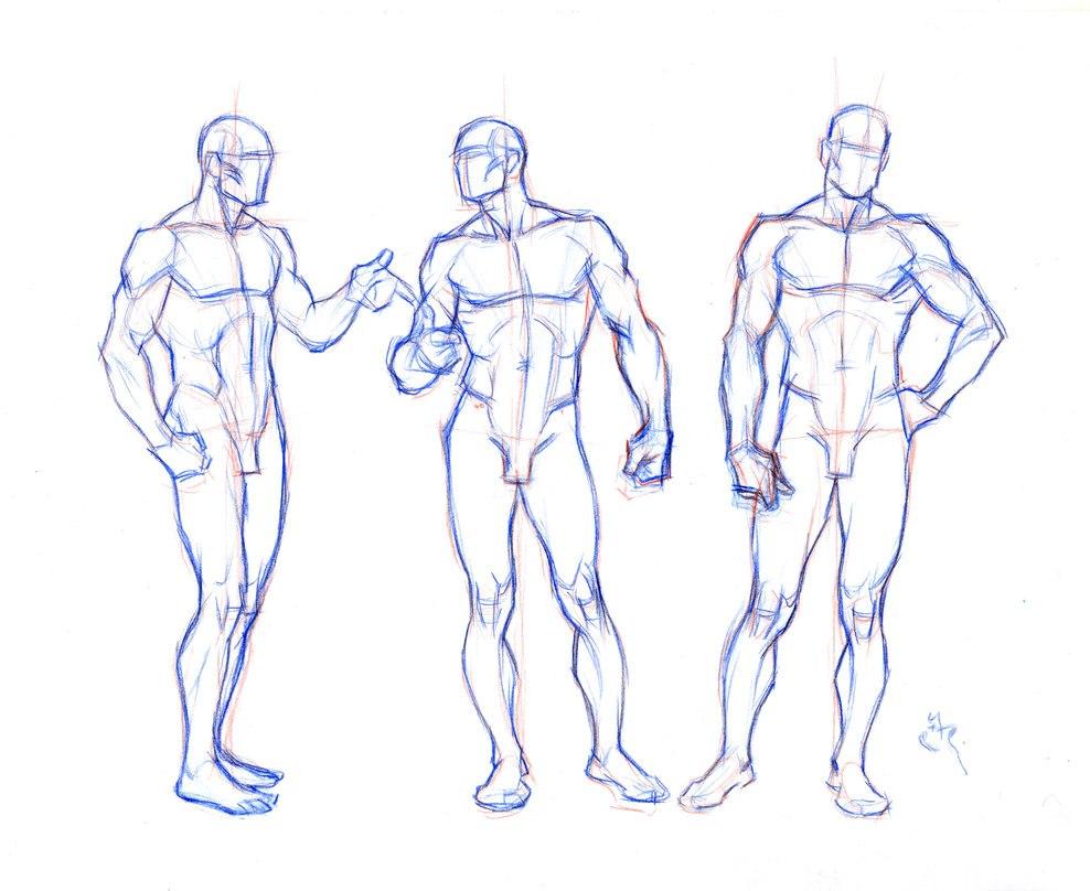 Картинка людей для рисования