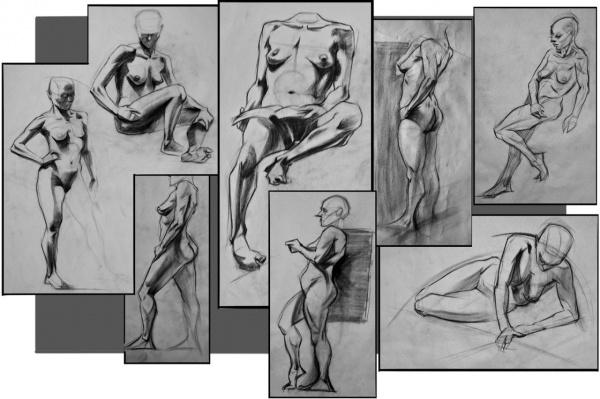 Учимся рисовать людей. Позы (3386 работ)