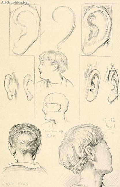 Учимся рисовать людей. Ухо (136 работ)