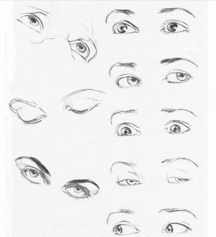 Учимся рисовать людей. Элементы лица. Глаза, Рот, Нос, Уши (572 работ)