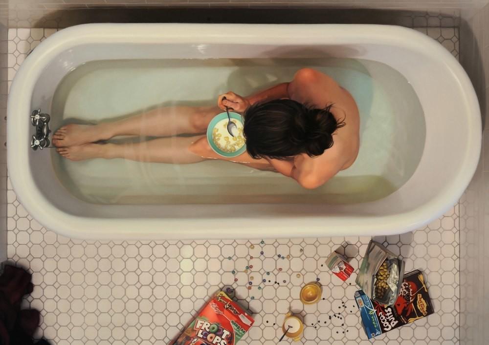 Зависимость от еды в серии гиперреалистичных картин (10фото)