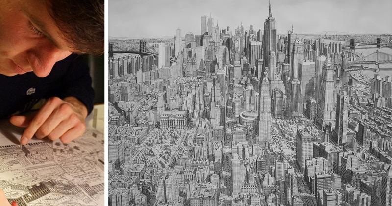 Пейзажи городов, написанные по памяти (17фото)