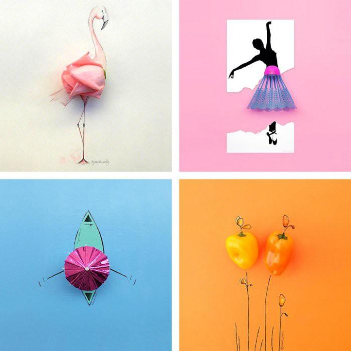 Веселые иллюстрации с повседневными предметами (16фото)