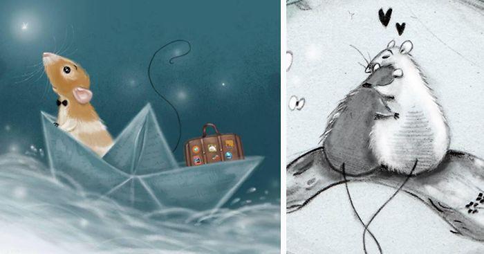 Голландская художница рисует очаровательные иллюстрации мышей и крыс (21фото)
