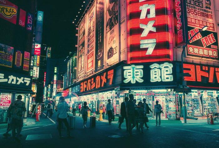 Фотографии ночного Токио от Масаши Вакуи (18фото)
