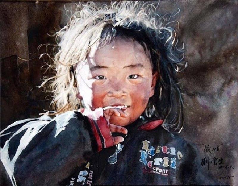 Китайский художник Лю Йуньшен и его акварель (14фото)