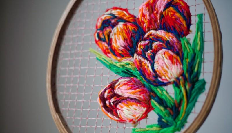 Потрясающая художественная вышивка от Даниэль Клаф (18фото)