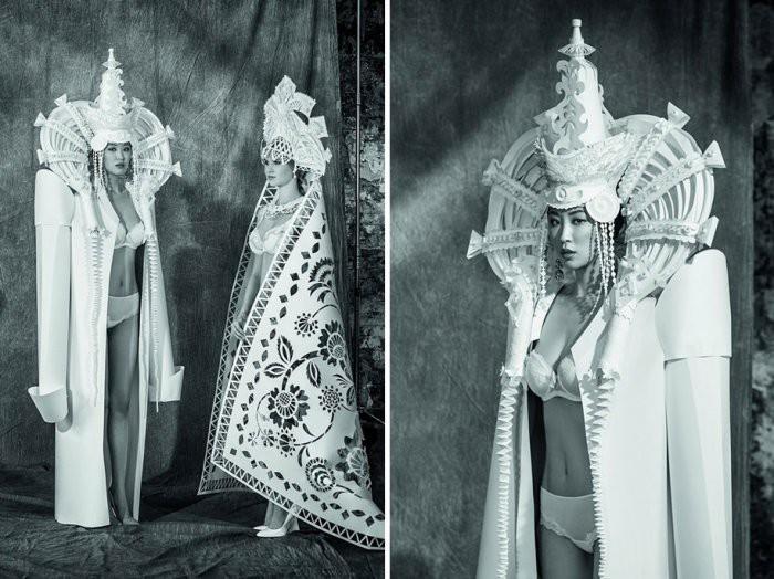 Великолепные бумажные платья художницы Аси Козиной (10фото)