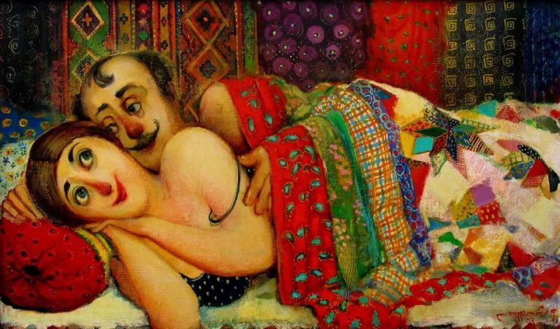 Уютный и тёплый мир в картинах Ладо Тевдорадзе (14фото)