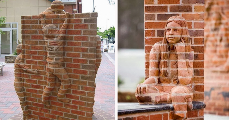 Живые кирпичные скульптуры Брэда Спенсера (13фото)