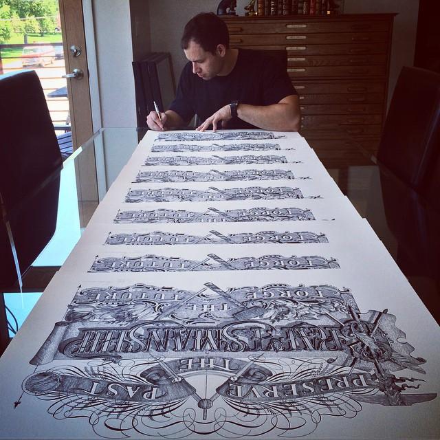 Уникальная живопись и каллиграфия Джейка Вайдмана (16фото)