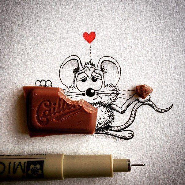 Очаровательный мышонок, нарисованный карандашом: арт-работы художника Apredart (16фото)