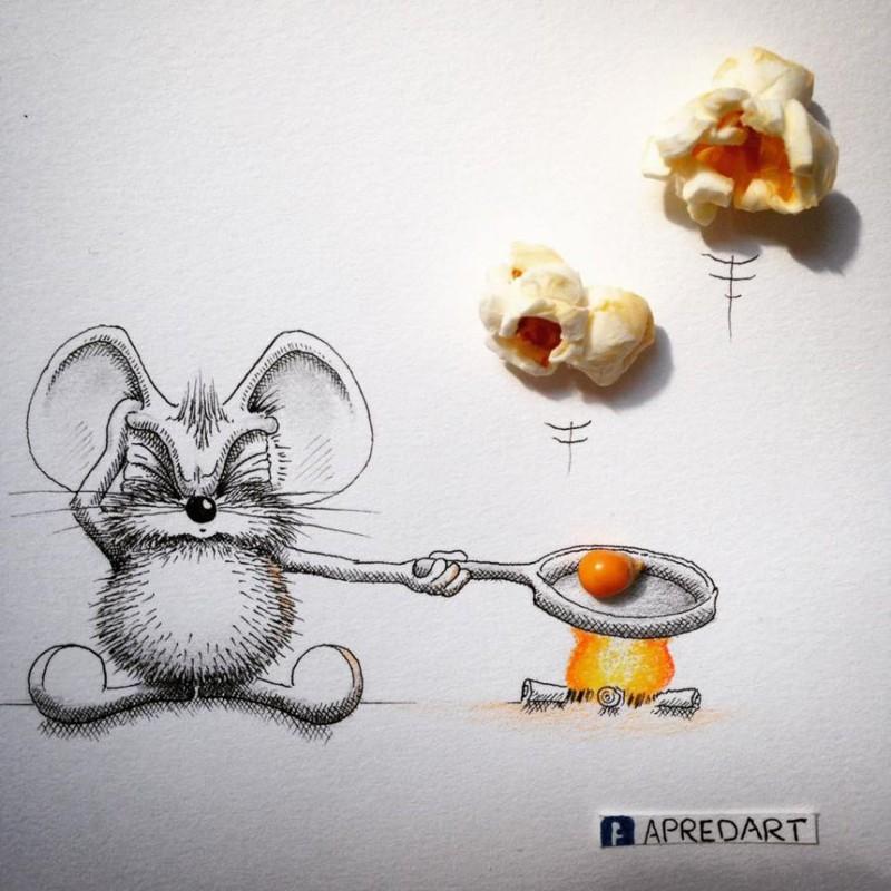 Картинки, которые доказывают, что у меня жизнь скучнее, чем у нарисованной мышки (22фото)