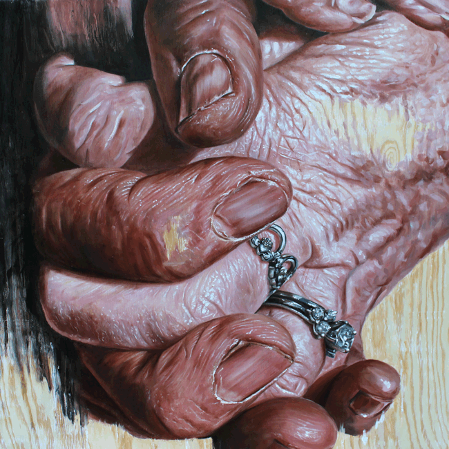 "Серия картин ""Руки"" написанных в технике гиперреализм (8фото)"
