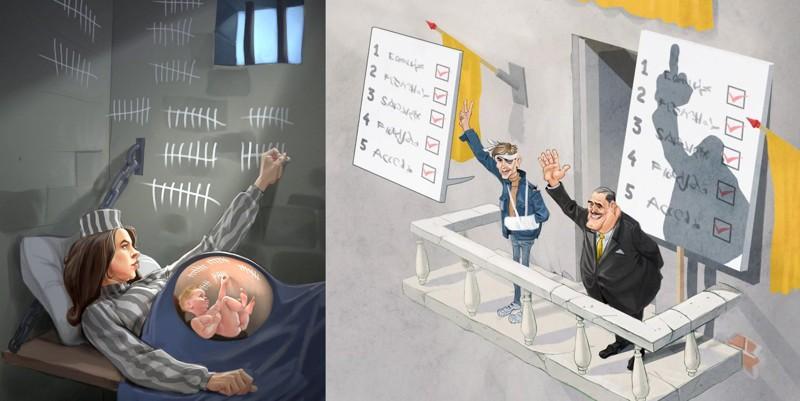 Дуэт художников иллюстрирует шокирующую реальность современного общества (13фото)