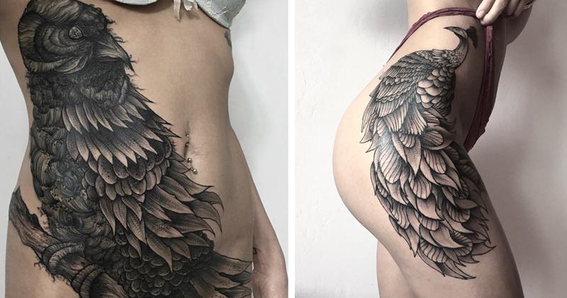 Мрачное очарование татуировок российского художника (49фото)