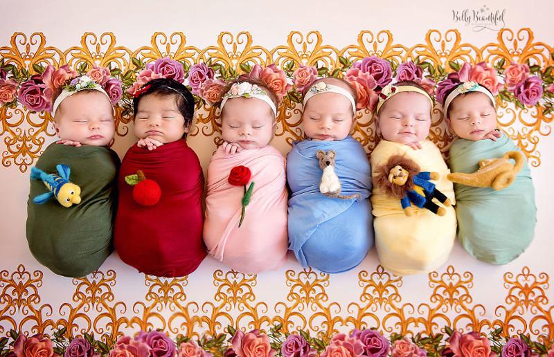 Эта фотосессия никого не оставит равнодушным: новорожденные в образе диснеевских принцесс (13фото)