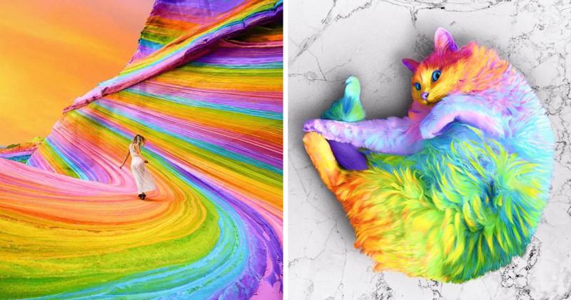 Художник из Нью-Йорка делает мир радужным (46фото)