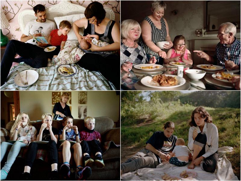 Вместе: британские семьи за едой (15 фото)