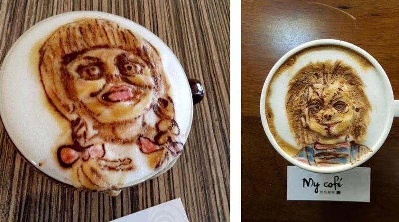 3D-ужасы на кофе из молочной пены или кофе с тараканами (16фото)