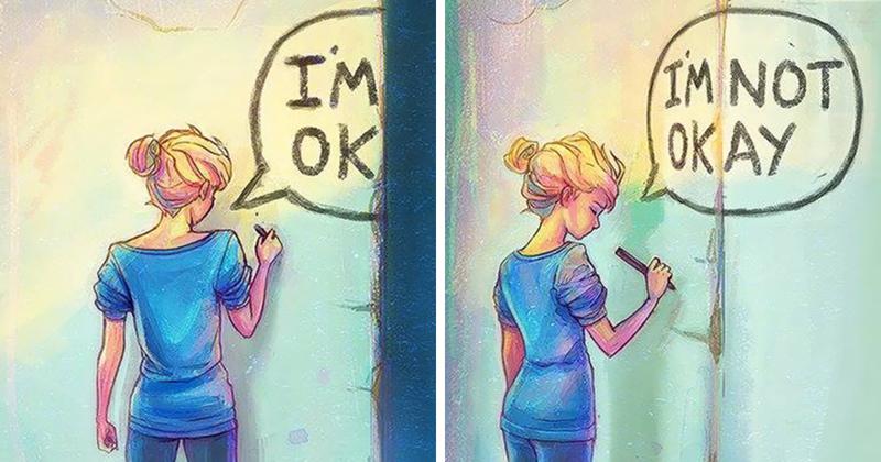 Иллюстрации с глубоким смыслом от художницы, страдающей депрессией (26фото)
