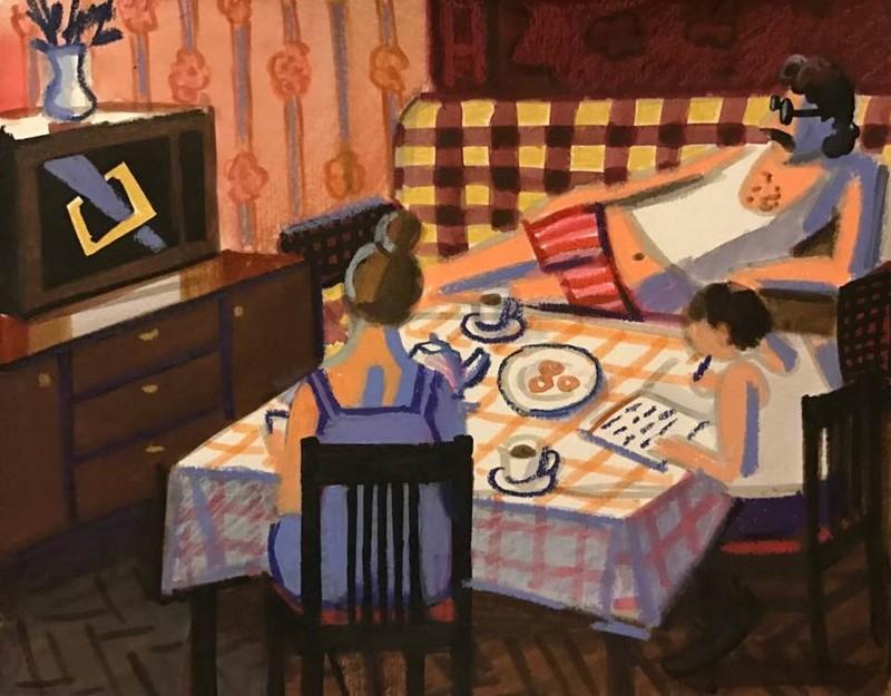 Мы жили как умели и могли - советская жизнь в честных рисунках Зои (36фото)