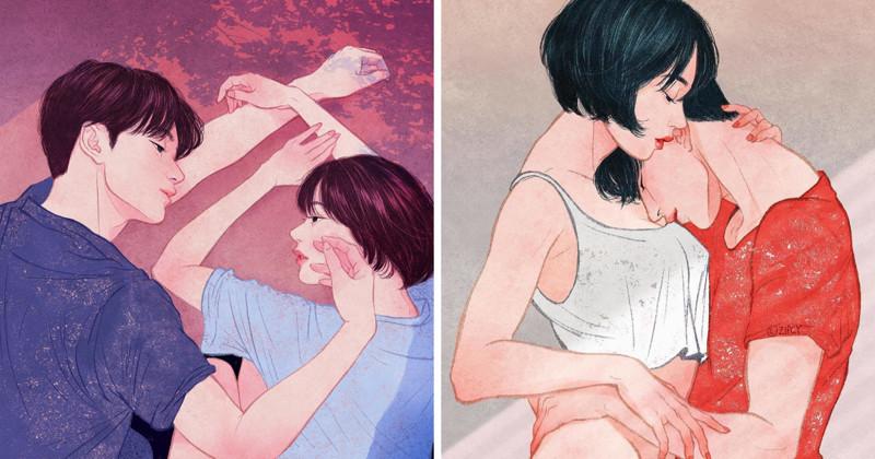 Любовь и нежность в иллюстрациях (22фото)