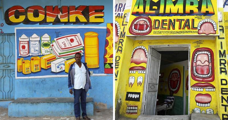 Маркетинг по-сомалийски: художник креативно преображает фасады зданий (14фото)