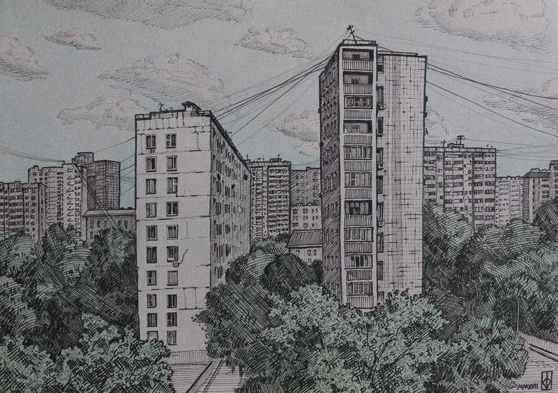 Городские задворки глазами художников (20фото)