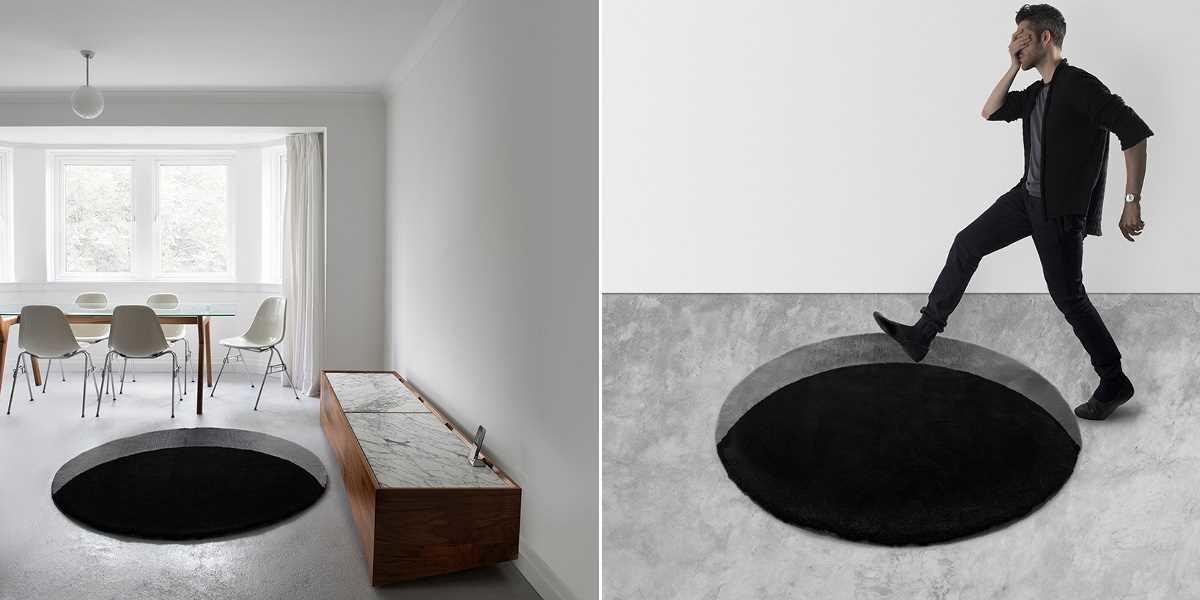 Эти необычные коврики создают иллюзию зияющей черной дыры (9фото)