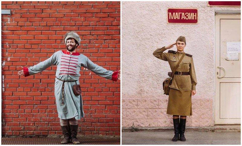 Прошлое в настоящем: 14 персонажей русской истории в проекте самарского фотографа (15фото)