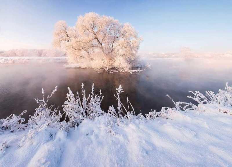 Сказочная красота Белоруссии зимой в фотографиях Алексея Угальникова (14фото)