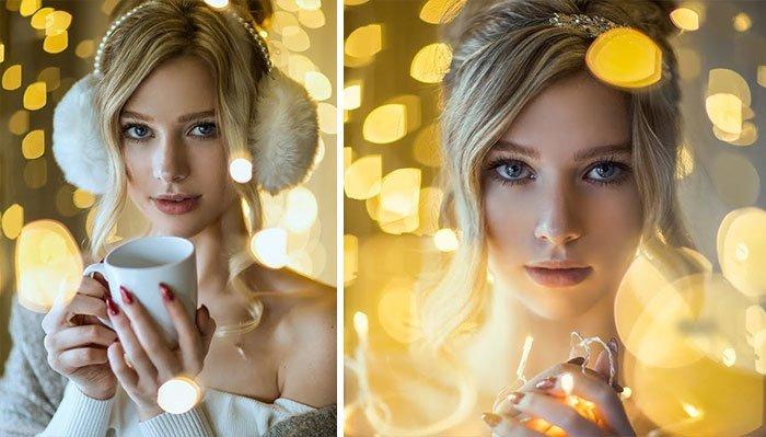 Как сделать волшебные новогодние портреты в самой обычной обстановке (11фото+1видео)