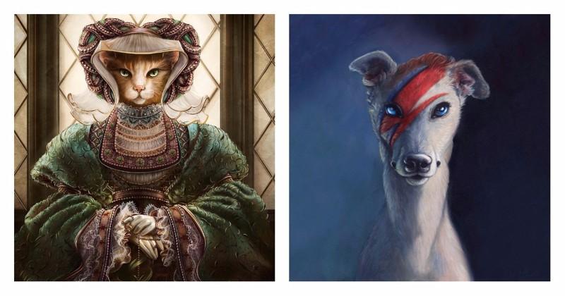 Антропоморфные животные, вдохновленные знаменитыми личностями (13фото)