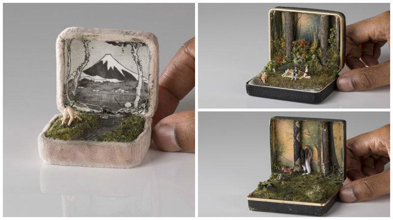 Сцены жизни внутри ювелирной коробки (29фото)