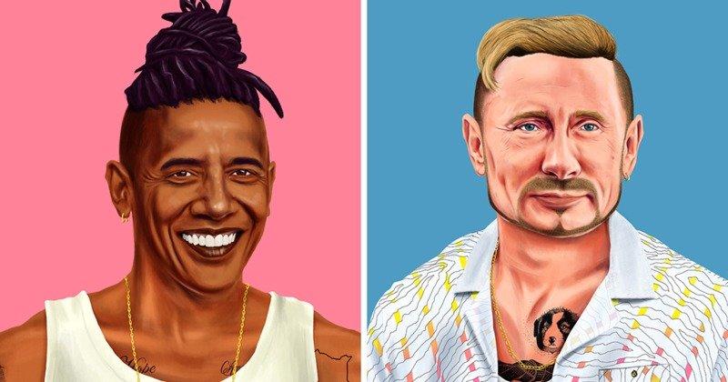 Мировые лидеры в образе хипстеров (20фото)