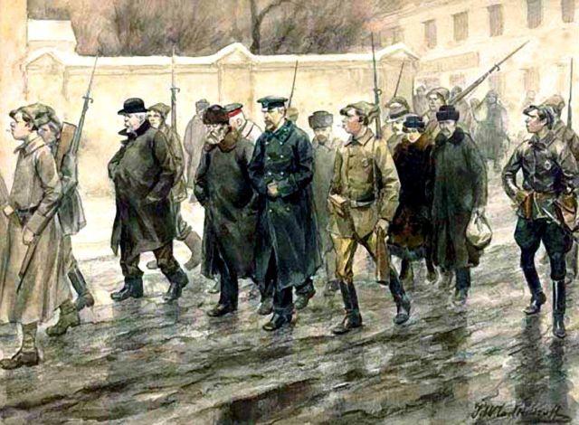 Октябрьская революция в зарисовках Ивана Владимирова (20 рисунков)