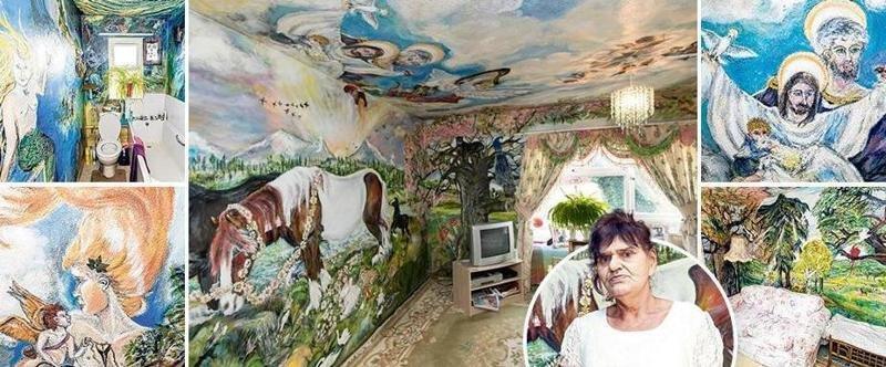 Британская пенсионерка полжизни превращает квартиру в мини-Сикстинскую капеллу (19фото+1видео)