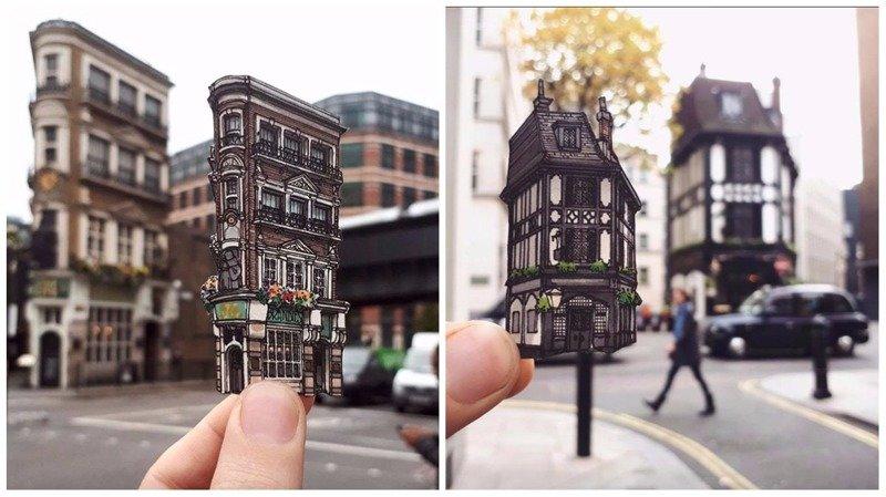 Старые лондонские пабы от иллюстратора Максвелла Тилса (10фото)