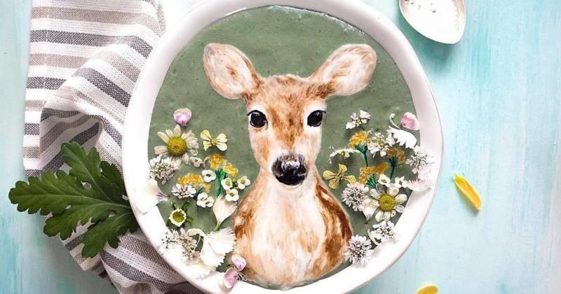 Искусство в чашке: потрясающие портреты животных на смузи (52фото)