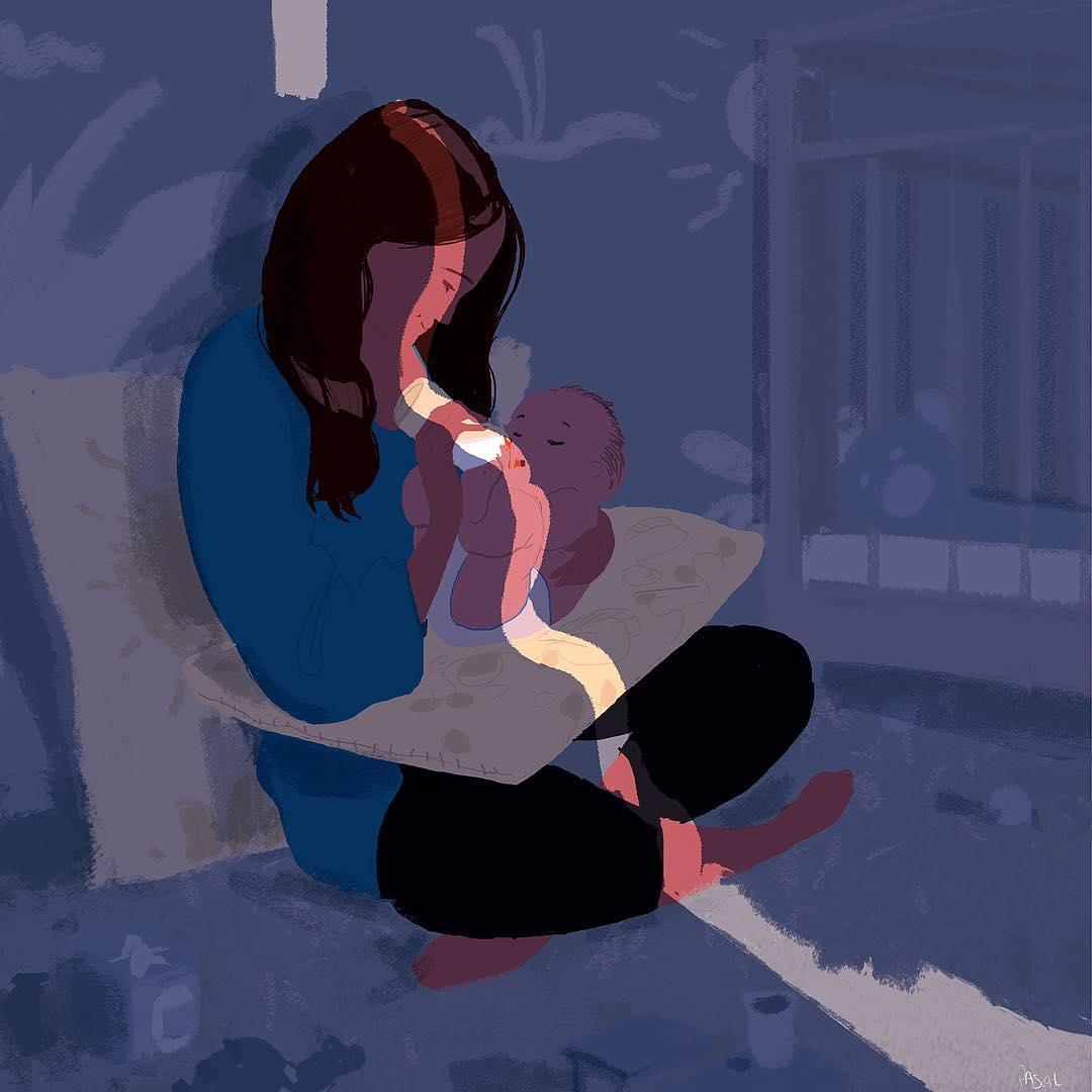 18 трогательных картинок, которые показывают связь между мамой и малышом