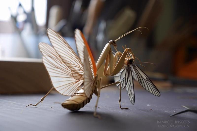 Невероятные скульптуры насекомых из бамбука (12фото)